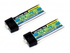 Lectron Pro 3.7V 160mAh 25C Lipo Battery 2-Pack with Micro Connector for Blade mCX, mSR, and mSR X