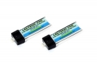 Lectron Pro 3.7V 160mAh 25C Lipo 2-Pack with Micro Connector for Blade mCX, mSR, and mSR X