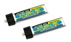 Lectron Pro 3.7V 220mAh 45C Lipo Battery 2-Pack for Blade mCX, mCX2, mSR, mSR X, Nano QX, & UMX AS3Xtra