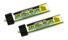 2-Packages of Lectron Pro 3.8V 250mAh 45C LiHV Battery 2-Pack for Tiny Whoop and Other Micro FPV Racing Drones