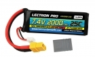Lectron Pro 7.4V 2000mAh 25C Lipo Battery with XT60 Connector  CSRC adapter for XT60 batteries to popular RC vehicles