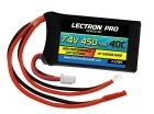 Lectron Pro 7.4V 450mAh 40C Lipo Battery with JST Connector