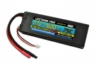 Lectron Pro 11.1V 7600mAh 75C Hard Case Lipo Battery with Bare Leads