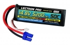 Lectron Pro 14.8V 5200mAh 50C Lipo Battery Soft Pack with EC5 Connector
