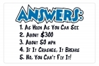 Aluminum Sign - Answers - 5x7 in.