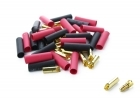 Bullet Connectors - 3.5mm - 25-Pack - Male, 25-Pack - Female
