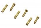 """Low Profile"" Bullet Connectors - 4mm - (3) Male, (3) Female"