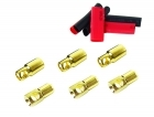 Bullet Connectors - 6mm - (3) Male, (3) Female