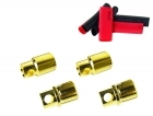 Bullet Connectors - 8mm - (2) Male, (2) Female