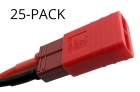 25-Pack of Common Sense RC Red Adapter for Deans-type batteries to popular RC vehicles