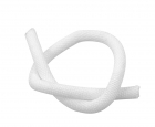 3/16 Woven Split Tube Cable Wrap - White - 1 ft