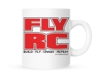 Coffee Mug - Fly RC - Build, Fly, Crash, Repeat - 11 oz.