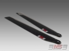 MS Composit Carbon Fiber Composite Main Rotor Blades 395mm (6/2.6)