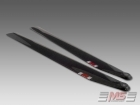<font color=&quot;red&quot; /><b>CLOSEOUT -</b></font> MS Composit 3D Carbon Fiber Composite Main Rotor Blades 570mm (12/4)