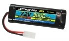 Lectron Pro NiMH 7.2V (6-cell) 3000mAh Flat Pack with Tamiya Connector
