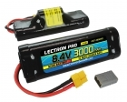 Lectron Pro&trade; NiMH 8.4V (7-cell) 3000mAh Hump Pack with XT60 Connector <b>+ CSRC adapter for XT60 batteries to popular RC vehicles</b>