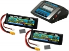 Power Pack #14 - ACDC-10A Charger + 2 x 11.1V 5200mah 50C w/ XT60 + Gray Adapter (#3S5200-50X)