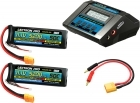 Power Pack #18 - ACDC-10A Charger + 2 x 11.1V 5200mah 50C w/ XT90 Connector (#3S5200-509)