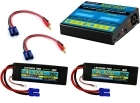 Power Pack #22 - ACDC-DUO Charger + 2 x 7.4V 5200mah 35C w/ EC5 Connector (#2S5200-355)