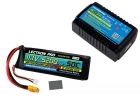 Power Pack #32 - AC-3A Charger + 1 x 11.1V 5200mah 50C w/ XT60 + Gray Adapter (#3S5200-50X)