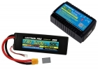 Power Pack #49 - AC-3A Charger + 1 x 7.4V 5200mah 50C w/ XT60 + Gray Adapter (#2S5200-50X)
