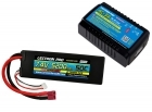 Power Pack #50 - AC-3A Charger + 1 x 7.4V 5200mah 50C w/ T-Plug Type Connector (#2S5200-50D)
