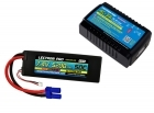 Power Pack #52 - AC-3A Charger + 1 x 7.4V 5200mah 50C w/ EC5 Connector (#2S5200-505)