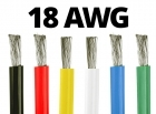 18 Gauge Silicone Wire - 25 ft. Spool - Available in Black, Red, Yellow, Blue, White, and Green