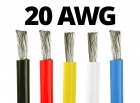 20 Gauge Silicone Wire - 25 ft. Spool - Available in Black, Red, Yellow, Blue, and White