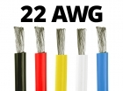 22 Gauge Silicone Wire - 25 ft. Spool - Available in Black, Red, Yellow, Blue, and White