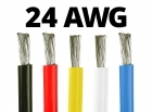24 Gauge Silicone Wire - 25 ft. Spool - Available in Black, Red, Yellow, Blue, and White