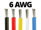 6 Gauge Silicone Wire - 25 ft. Spool - Available in Black, Red, Yellow, Blue, and White