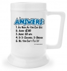 Beer Stein - Answers