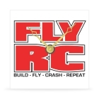 Wall Clock - Fly RC - Build, Fly, Crash, Repeat - 8 in.