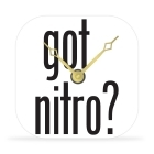 Desk Clock - Got Nitro? - 4 in.