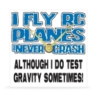 Wall Clock - I Fly Planes and Never Crash - 8 in.