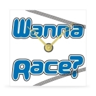 Wall Clock - Wanna Race? - 8 in.